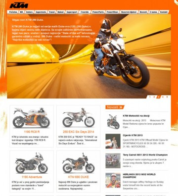 KTM Croatia - Home Page